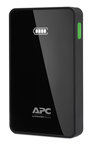 APC Mobile Power Pack (externer USB Akku / Powerbank, 5,000mAh Lithium-polymer Akku, 2x Ladeausgang) schwarz Mobile Accessory Pack