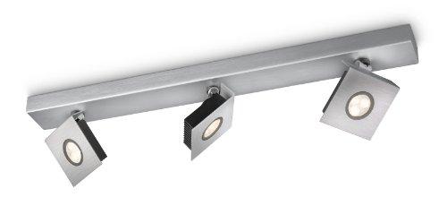 Philips Ledino Spot 56433/48/16, Farbe Aluminium, 3 x 7,5W LED warmweiß