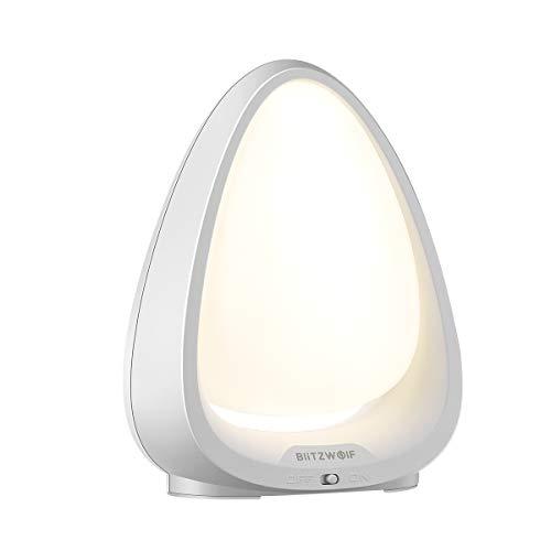 LED Nachtlicht, BlitzWolf Berührungssensor kinder Nachtlampe mit Warmweißes Licht und Farbwechsel-Modus, Safe ABS + PC für Babyzimmer, Schlafzimmer, Wohnräume(4000K Farbtemperatur) -