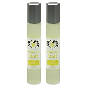 WcWunder Toilettenduft, Toilettenparfüm, Geruchsblocker 2x100ml Glasflakon Vanille