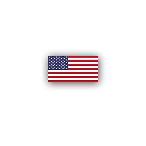 Aufkleber / Sticker -Vereinigte Staaten von Amerika Flagge United States of America USA US föderale Republik Washington Fahne 7x3,7cm #A3046