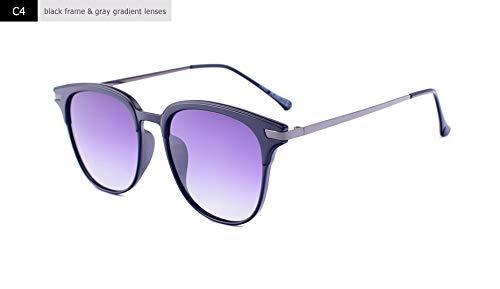 LXXSSRA Sonnenbrillen Square Polarized Sonnenbrillen Herren Damen Uv400 Sonnenbrille Rahmen Grau Verlaufsglas