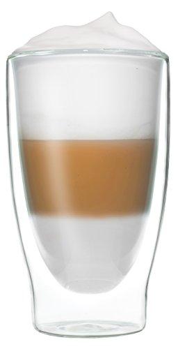 Feelino 1x 400ml XL doppelwandiges Thermoglas + 1x hochwertiger Rapunzel BIO – Trinkschokolade mit hohem 30% Kakaoanteil, Kokosblütenzucker, Meersalz und mit natürlichem Bourbon Vanille / doppelwandiges Thermo Glas mit Schwebe-Effekt - 7
