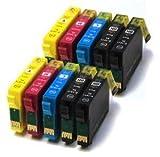 Prestige Cartridge T0551-T0554 10-er Pack Druckerpatronen für Epson Stylus Photo R240, R245, RX400, RX420, RX425, RX430, RX450, RX520, schwarz / cyan / magenta / gelb