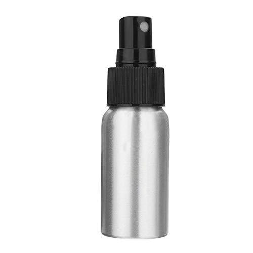Ogquaton Argent en atomiseur d'atomiseur de parfum de distributeur de bouteille de brouillard de pompe en aluminium, qualité 100ml