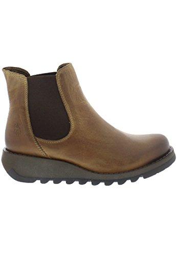 Fly London Damen Salv Chelsea Boots Braun (Camel)
