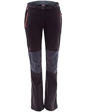 Ternua ® Freyder W Pantalones, Mujer, Negro (Black/Whales Grey), L