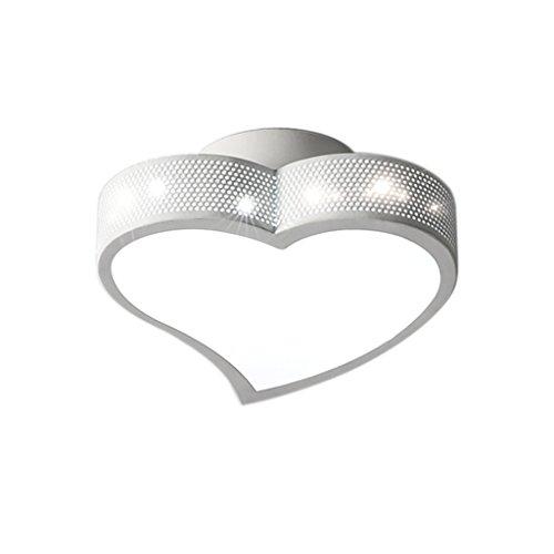 Lámpara de Sala de Matrimonio en Forma de corazón Creativa Lámpara de Techo de casa romántica en Caliente Interior THANSANDAU (Color : Luz Blanca)
