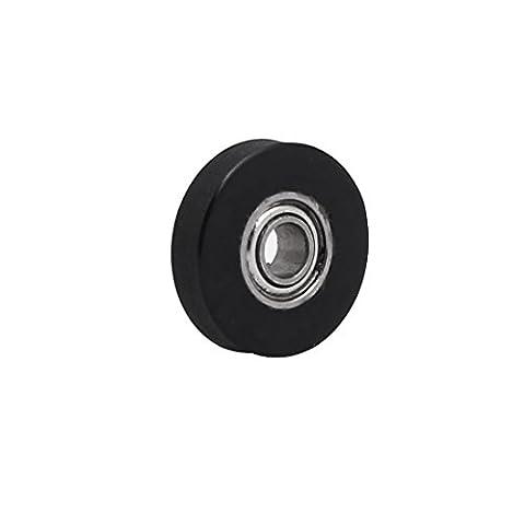 sourcingmap® 3mm x 12mm x 3mm PU Roller Bearing Pulley Sliding Converyor Wheel Black