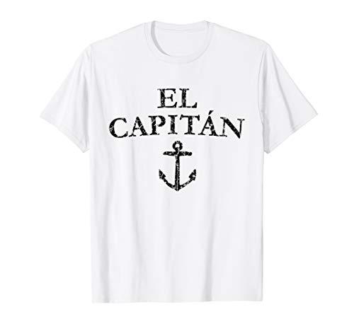 El Capitan (Vintage Schwarz) Kapitän Boot & Segel T-Shirt Vintage Boot