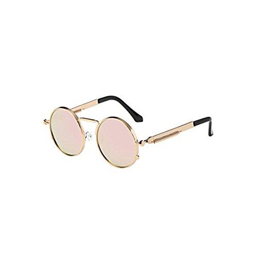 Occhiali da sole da donna uomo polarizzati - beautyjourney occhiali da sole donna rotondi vintage sunglasses cat eye - occhiali da sole donna occhiali unisex moda uv integrato (d)