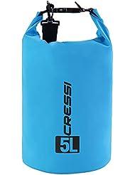 Cressi Dry Bag, Sacca/Zaino Impermeabile per attività Sportive Unisex Adulto, Azzurro/Standard, 5 L