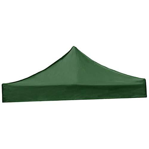 SM SunniMix Cubierta de Tienda de Campaña Techo de Carpa Sombrilla de Playa Dosel Plegable Impermeable para Acampada Picnic Camping - Verde Oscuro, 3x3m