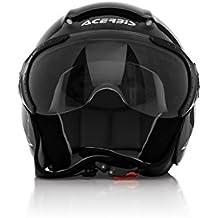 Acerbis 0021662.090.062x-jet sobre casco de la bici, Negro