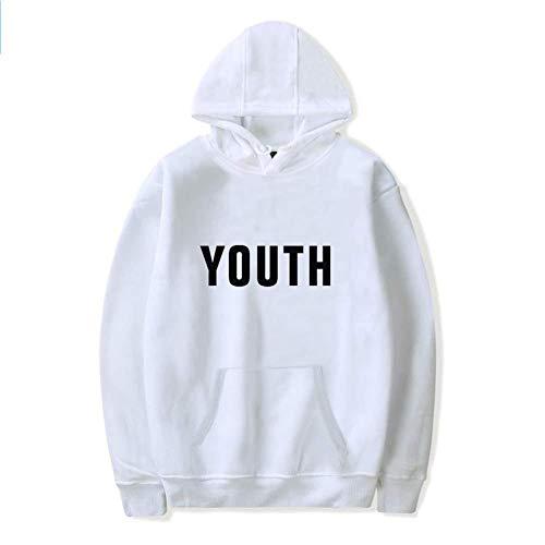 RHGZ Unisex Hoodies Shawn Mendes Hooded Sweatshirts 'Youth' Frühling Lässige Pullover Mädchen Baumwolle Sweatshirts Fan Pullover für Frauen Männe Youth Hoodie