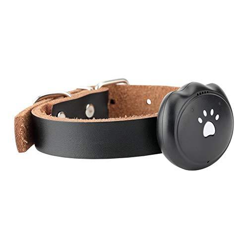 QNMM GPS Mini Tracker Pet Impermeable/Alarma / Seguimiento en Tiempo Real/Monitor de Voz/Valla de Seguridad Compatible Inteligente Anti-Perdido,Black