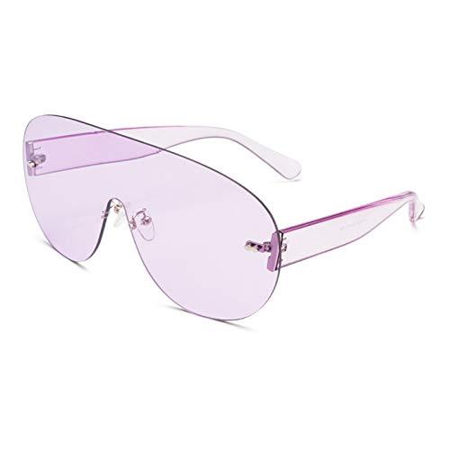 MINGMOU Übergroße Shield Visor Sonnenbrille Frauen Große Sonnenbrille Männer Transparenten Rahmen Vintage Big Windproof Retro Top Hood Brille