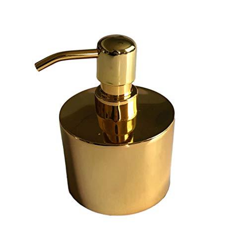 Dispensador de jabón Dispensador de loción para baño y cocina antibacterial de acero inoxidable cepillado de 300 ml, lavado de manos líquido recargable, champú ( Color : Metallic , tamaño : 300ml )