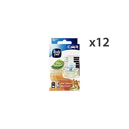 Set 12 AMBI-PUR Auto Ricarica Anti-Tabacco Deodorante Accessori auto e moto