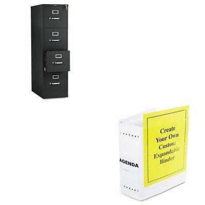 kithon514ppleo61605–Value Kit–Charles Leonard varicap6erweiterbar 1-6Post Binder (leo61605) und die Hon Company HON 510Serie 4Schubladen Vertikal Datei, Schwarz (hon514pp)