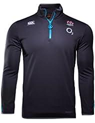 England Rugby - Chaqueta de selección inglesa de rugby para hombre, tecnología ThermoReg, cremallera 1/4, con forro polar, hombre, color gris, tamaño 3XL