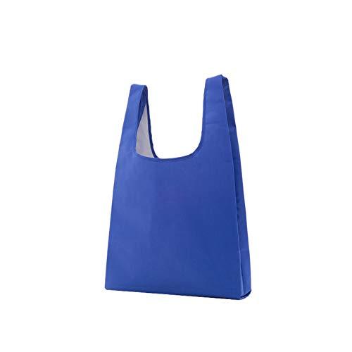 WARMTOWE Einkaufstasche, wiederverwendbar, faltbar, Nylon, praktische Einkaufstaschen, Einkaufstasche, Reisetasche, dunkelblau, 40 * 50 * 60cm (Nylon Wiederverwendbare Einkaufstaschen)
