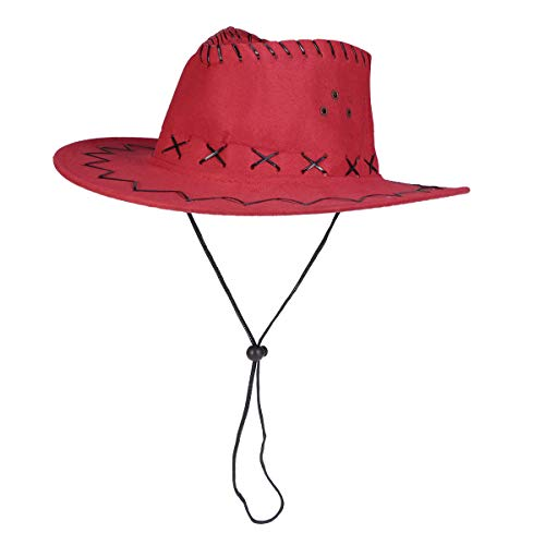 Kostüm Texaner - Amosfun Western Cowboy Hat Revolverhut Kinder Texaner Hut Kostüm Party Zubehör Rot