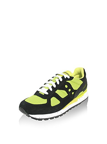 Saucony chaussures baskets sneakers homme en daim shadow vert Nero/Lime