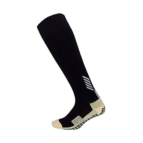 Kairuun Unisex Fußballsocken Sportsocken Knie Lang Atmungsaktiv Anti-Rutsch Fußball Socken Mehrfarbig Optional