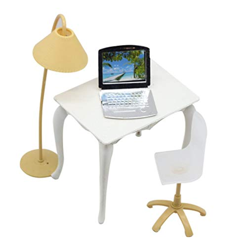 Ogquaton Casa Muñecas Muebles Mesa Oficina Miniatura