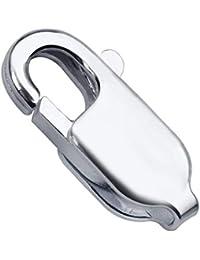 Materia 925 plata 10 x 18 x 4 mm mosquetón 2,5 G para pulseras/cadenas/joyería manualidades #Z13