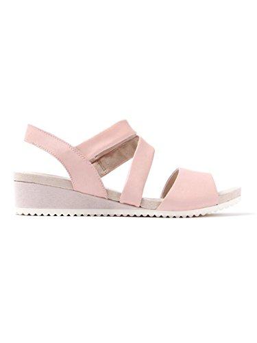 Caprice Damen Sandalette aus Glattleder in rosé Rose
