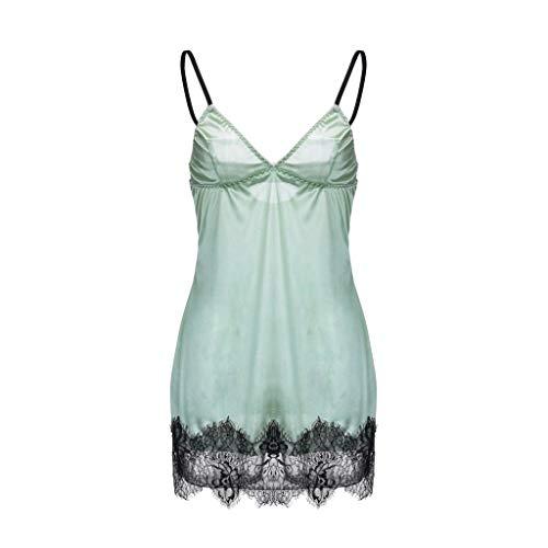 HANGUP Neue Frauen einfarbig Underwear Damen Patchwork Spitze Silk Satin Nachthemd Tops Dessous zurück schließung nachtwäsche -
