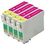 ***** FREE POST **** 4 Compatible Magenta (RED) XL Printer Ink Cartridges to replace T1813 (18XL Series) for use in Epson Expression Home XP-102, XP-202, XP-205, XP-212, XP-215, XP-225, XP-30, XP-302, XP-305, XP-312, XP-315, XP-322, XP-325, XP-402, XP-405, XP-405WH, XP-412, XP-415, XP-422, XP-425