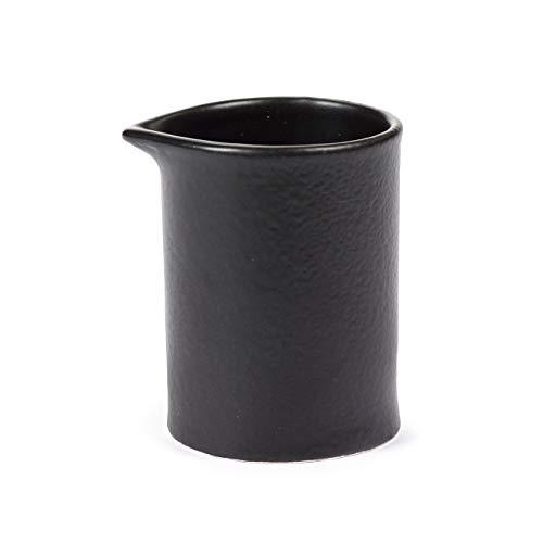 San Pellegrino Pot à Lait - saucière - Noir Mat - 7 x 6 cm - h 7 cm