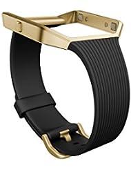 Fitbit bracelet classique version slim pour montre intelligente Blaze, Mixte Adulte, Noir, Taille S