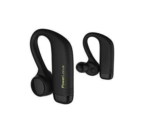 PowerLocus Bluetooth Kabellose Kopfhörer In-Ear, TWS True Wireless Ohrhörer Hi-Fi Stereo & Touch Sensor Sport Kopfhörer IPX5 Wasserdicht Headset mit Mikrofon für iPhone,Samsung,Huawei, usw. - Schwarz - Wireless Earbuds Beats