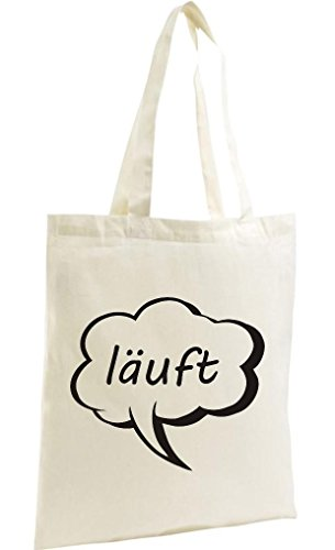 Shirtstown Shopping Bag Organic Zen, Shopper Sprechblase läuft Natur