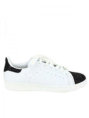 Cendriyon, Baskets BLACK AND WHITE ASTON Chaussures Femme Noir