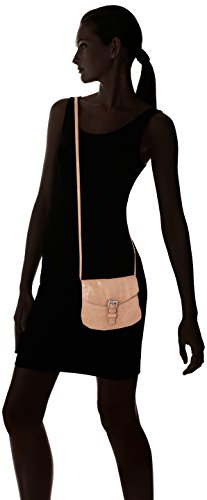 PIECES - Pcabby Leather Party Bag Noos, Borse a tracolla Donna Marrone (Nature)