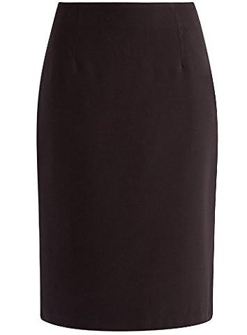 oodji Collection Women's Knee Length Pencil Skirt, Black, UK 14