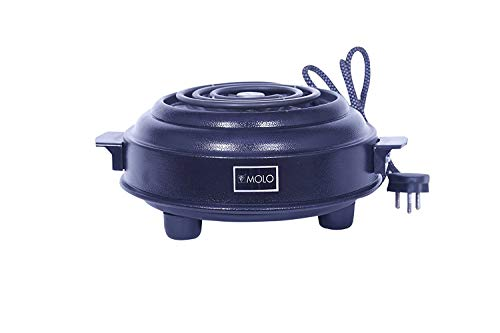 MOLO Chrome 1000 W Electric G Coil Induction Cooktop Hot Plate (Black )