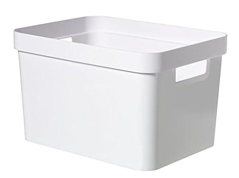 Curver 04741-N23-01 Infinity Boîte de rangement Plastique Blanc 35,6 x 26,6 x 21,8 cm 17 L