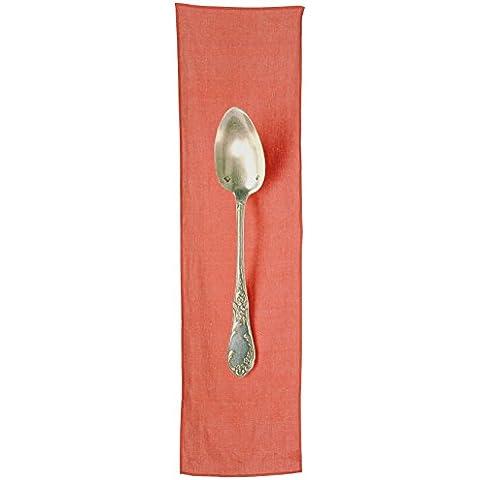 Daycollection COUVLITT34 - Camino de mesa (lino, medidas: 160 x 46 x 0,2 cm), diseño de cubiertos, color