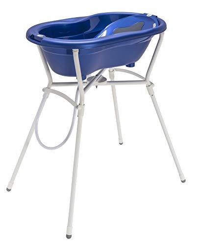 Rotho Babydesign Komplett-Badeset mit Wanne und Klapp-Ständer, 0-12 Monate, Max 25kg, TOP, Royal Blue Pearl (Dunkelblau), 21060026501