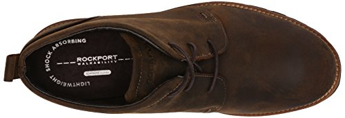 Rockport Mens Charson Lace-Up Chukka Boot- Dark Brown Crazy Horse