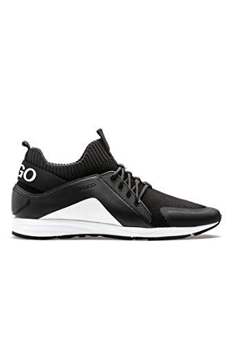 HUGO Herren Sneaker Hybrid_Runn_knmx Schwarz 42