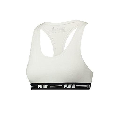 Puma Damen Iconic Racer Back Sport BH 2er Pack White (300)