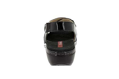 Komfort Damenlederschuh Piesanto 4813 sandale herausnehmbaren Einlegesohlen bequem breit Negro