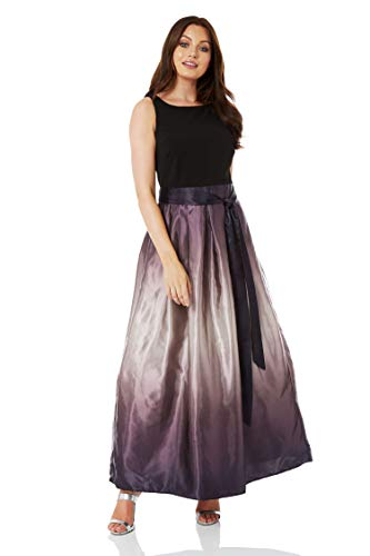 Roman Originals Damen Satin-Maxi-Kleid mit Farbverlauf - Ballkleid, Kleider für Abschlussfeier, zum...